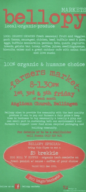 Bellopy Market Flyer