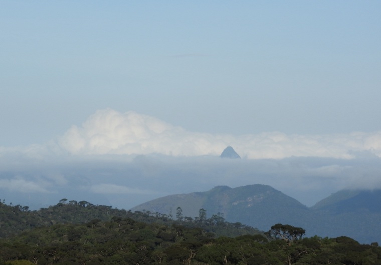 Early morning clouds surround Adam's Peak