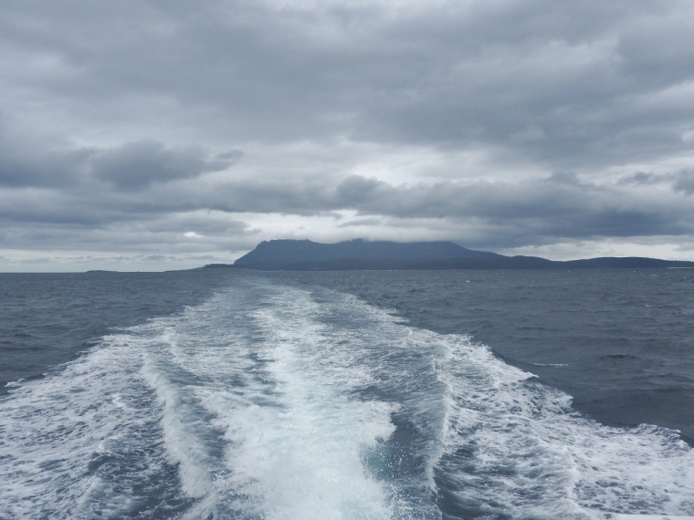 Leaving Maria Island