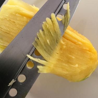 Shred the mango