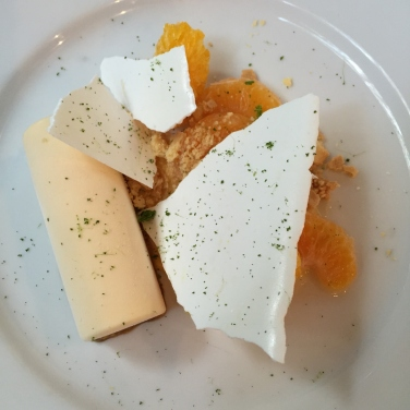 Lime parfait with mandarin & meringue
