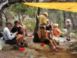 Lunch break near Bluestone Bay