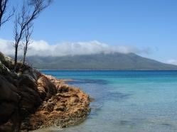 View of Schouten Island from Bryans Beach