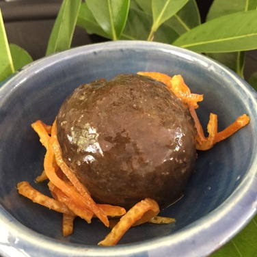 Black Sapote with Mandarin