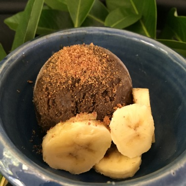 Black Sapote with Banana and a sprinkle of Coconut Sugar