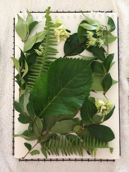 Layering plant matter